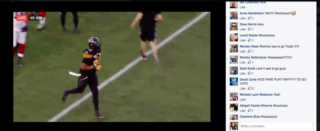Facebook Live Stream: Ticats vs Redblacks