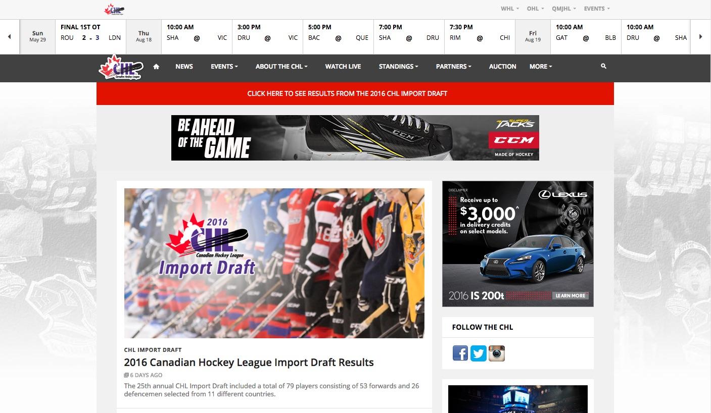 CHL.ca Website