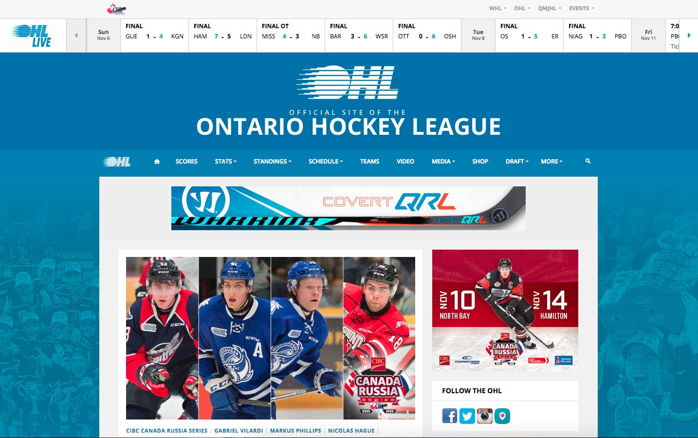 OHL website re-launch
